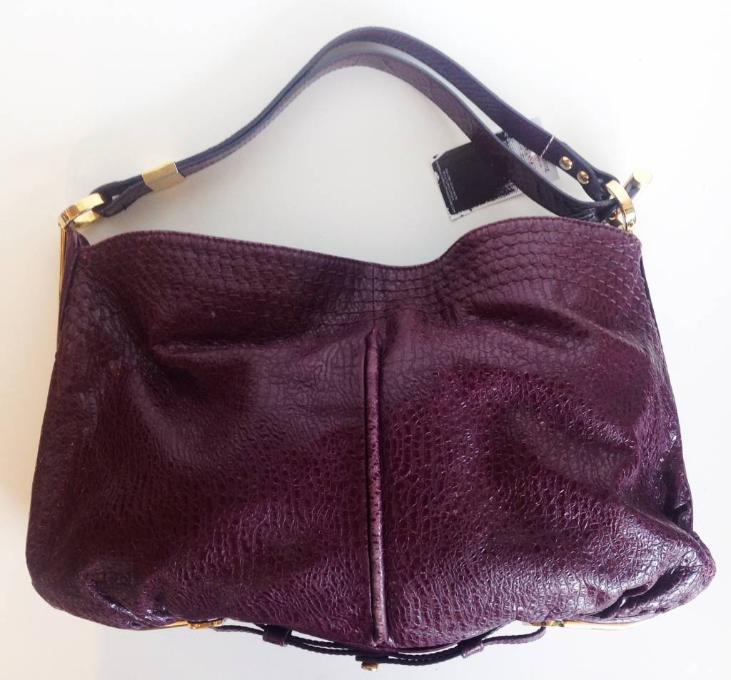 Jimmy choo purple leather hobo tote culture clothing for Jimmy choo mens shirts