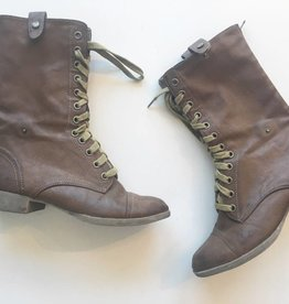 Brown Combat Boots Tribal Inside (6.5)