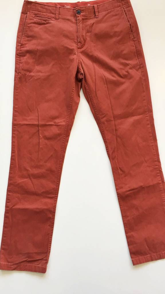 Gap Rust Slim Fit Chino Pants (34)