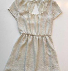 Vintage Ivory Polyester Dress (S/M)