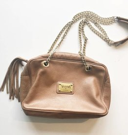 Valentina Italia Tan Leather Tassel Purse