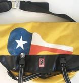 Chrome Yellow Texas Flag Guitar Messenger Bag