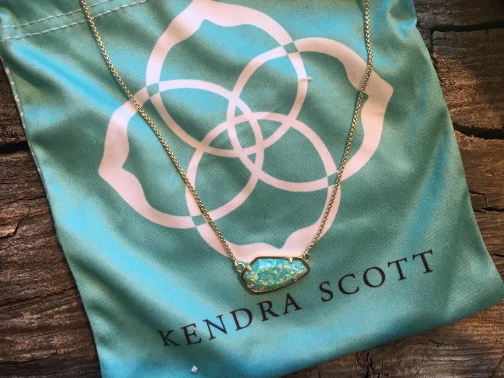 Kendra Scott Cami Aqua Kyocera Necklace