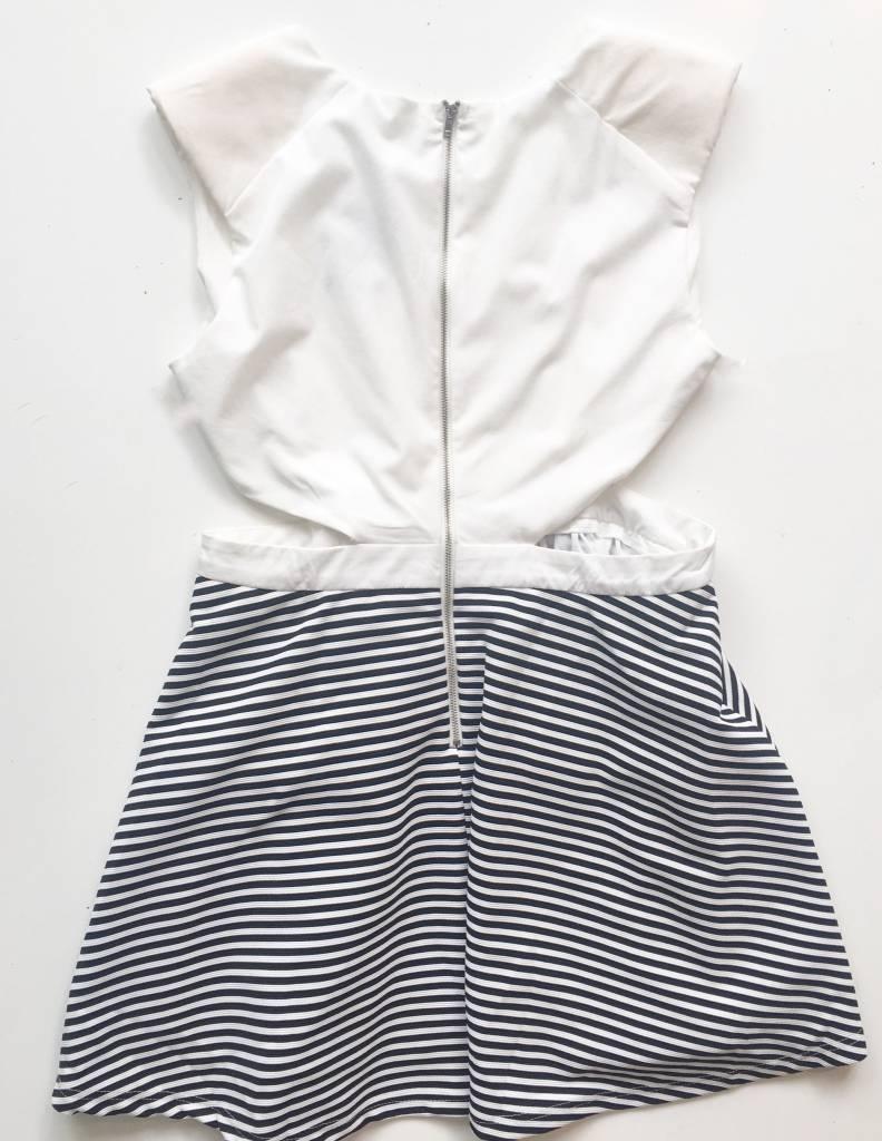 Depri Black & White Side Cutout Dress (L)