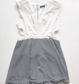 Depri Black & White Side Cutout Dress (L)