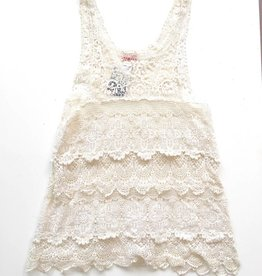 Free People White Lace Tank (S)