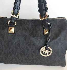 Michael Kors Black & Grey Grayson Medium Tote