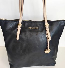 Michael Kors Black Leather Jetset Tote