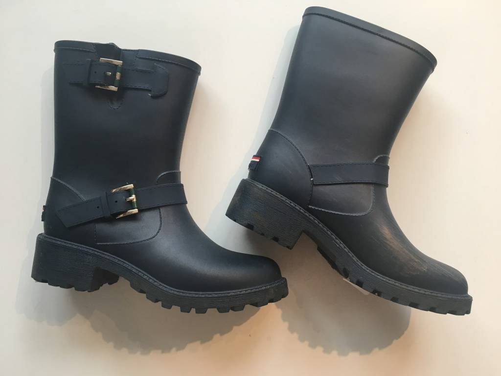 Tommy Hilfiger Navy Rain Boots (9)