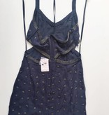 Free People Navy & Sequin Cut Out Dress (12)