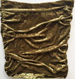Free People Chartreuse Crushed Velvet Skirt (L)