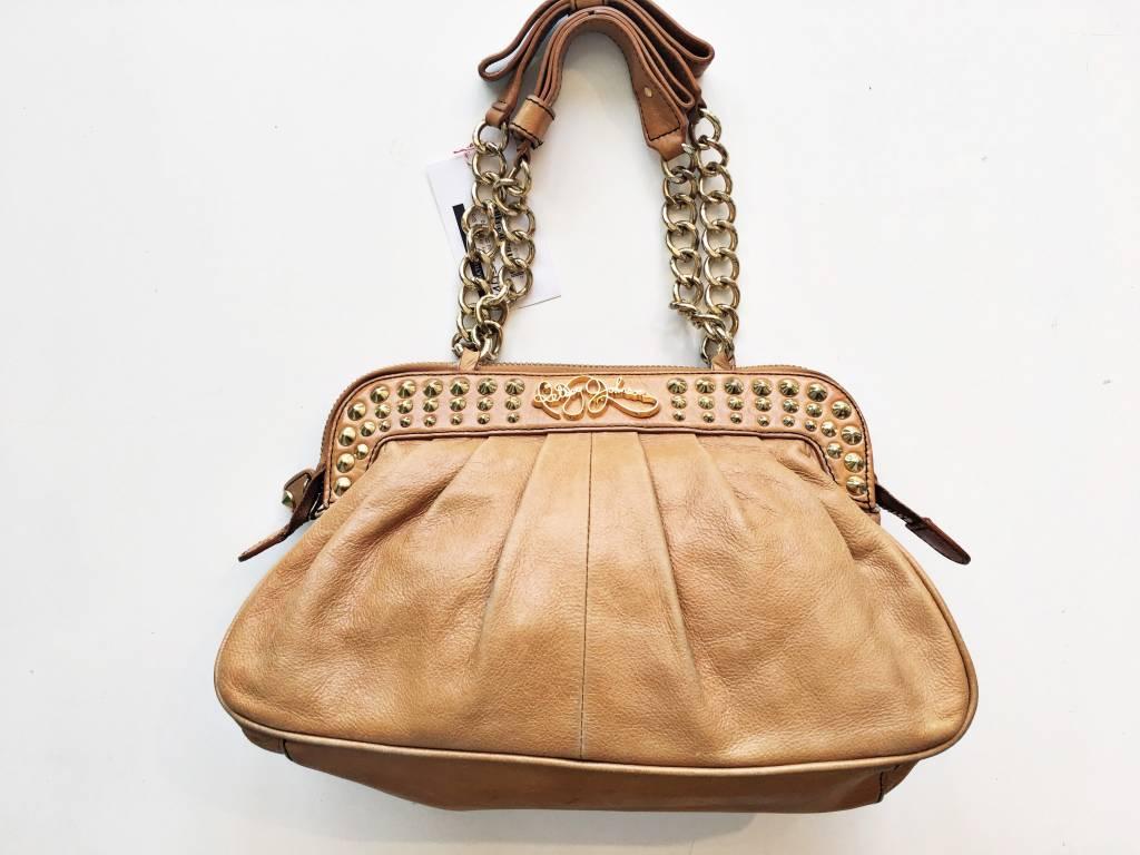 Betsey Johnson Brown & Gold Stud Bag
