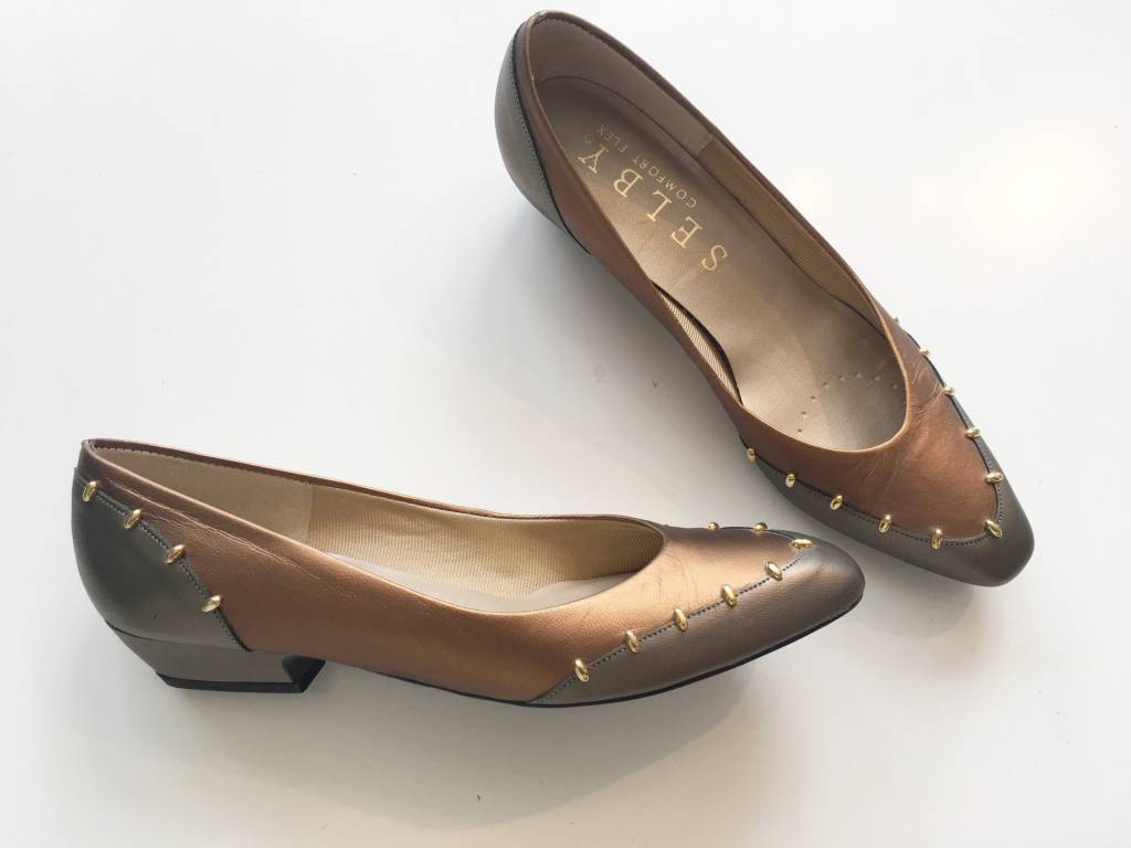 Selby Bronze & Gray Flats (6.5)