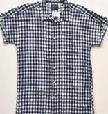 Scotch Linen Blue Plaid Button Up (L)