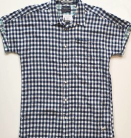Scotch Linen Blue Plaid Button Up (L)