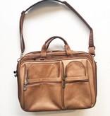 Heritage Brown Leather Computer Messenger Bag