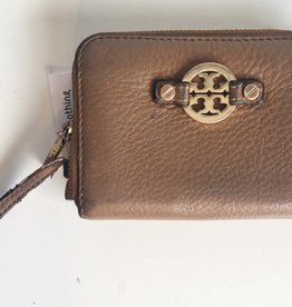 Tory Burch Brown Small Zip Wallet