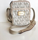 Michael Kors White Double Pocket Crossbody
