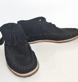 Splendid Black Fringe Booties (7)