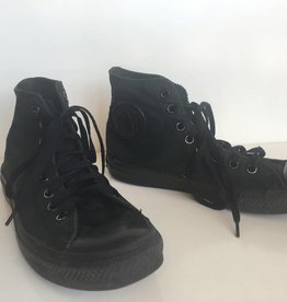 Converse All Star Black Out High Tops (8.5)