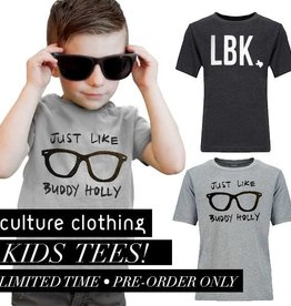 LBK & Just Like Buddy Holly Kids Tee