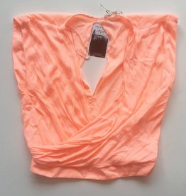 River Island Coral Top with Keyhole Back (M)