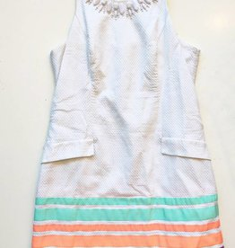 Lilly Pulitzer White Pink/Teal/Orange Dress (12)