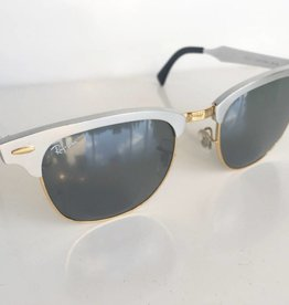 Rayban Clubmaster Brushed Steel Sunglasses