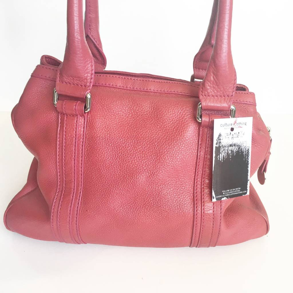 Marc By Marc Jacobs Red Pebbled Leather Tote