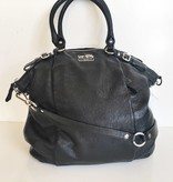 Coach Madison Black Leather Crossbody Tote