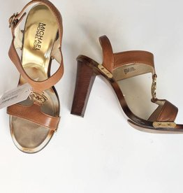 Michael Kors Brown & Gold Pumps (8)