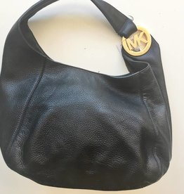 Michael Kors Black Leather Top Handle Tote