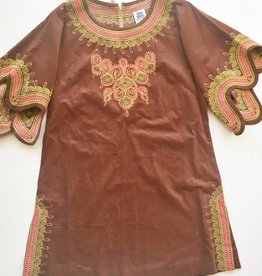 Ivy Jane Brown Embroidered Dress (S)