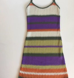 Multicolor Knit Festival Dress (S)