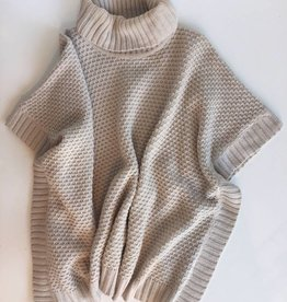 Forever21 Cream Turleneck Knit Poncho (One Size Fits All)
