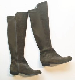 Franco Sarto Green Suede Over The Knee Boots (10)