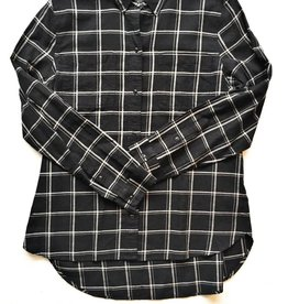Madewell Black & White Flannel Button Up (L)