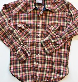 Wrangler Red/Yellow Plaid Flannel Pearl Snap (L)