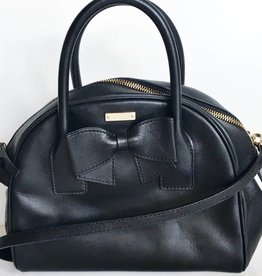 Kate Spade Black Leather Hanover Small Lorin Bowler Bag