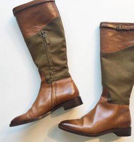 Ralph Lauren Leather & Canvas Riding Boots (8.5B)