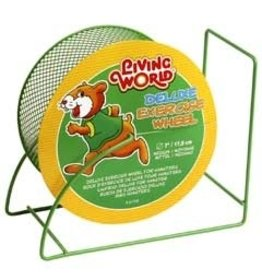 Small Animal LW Wire-Mesh Hamster Wheel 7. green-V