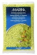 Aquaria Marina Aquarium Gravel, Lime-Green,2kg-V