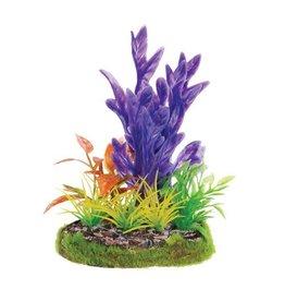 Aquaria (D) UT SM SCENE - PURPLE FERN W/ YEL GRASS