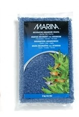 Aquaria Marina Aquarium Gravel, Blue, 2kg-V