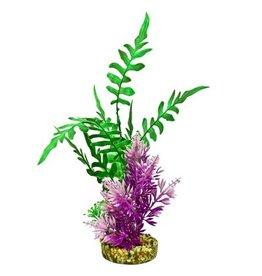 Aquaria (D) FIESTA AQUA SEAGRASS - GREEN / PURPLE PLANT