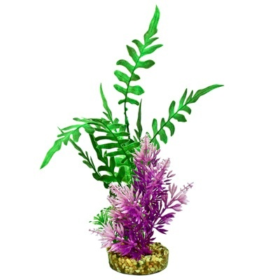 Aquaria (D) FIESTA AQUA SEAGRASS - GREEN / PURPLE PLANT