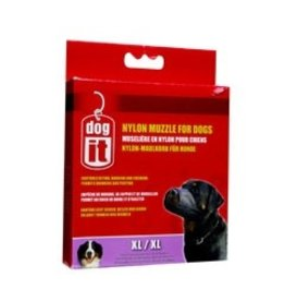 Dog & cat Dogit Nylon Dog Muzzle, Black, XLarge,21.5 cm/8.5""