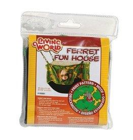 Small Animal (W) Living World Ferret Fun House - Green - 25 cm (10 in)