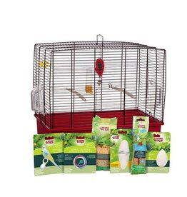 "Bird Living World Deluxe Budgie Starter Kit - 50 cm L x 30 cm W x 48 cm H (19.7"" x 11.8"" x 18.9"")"