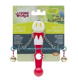Bird (D) Living World Circus Toy - Balance - White/Red